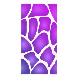 Purple Pattern Personalized Photo Card