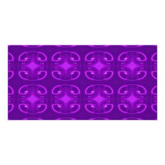 Purple Pattern Photo Greeting Card