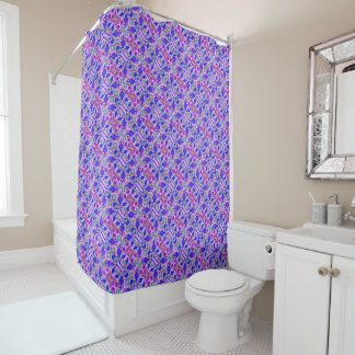 Purple Pattern Shower Curtain