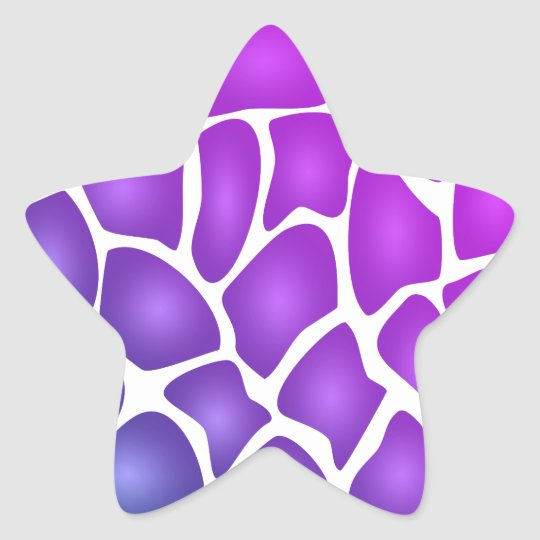 Purple Pattern Star Sticker