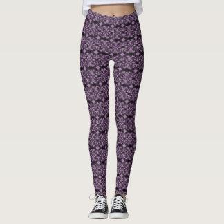 Purple Pattern Stellar Leggings