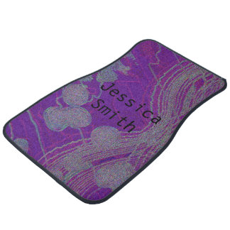 Purple pattern swirls/fractals Front Car Mats (2) Car Mat