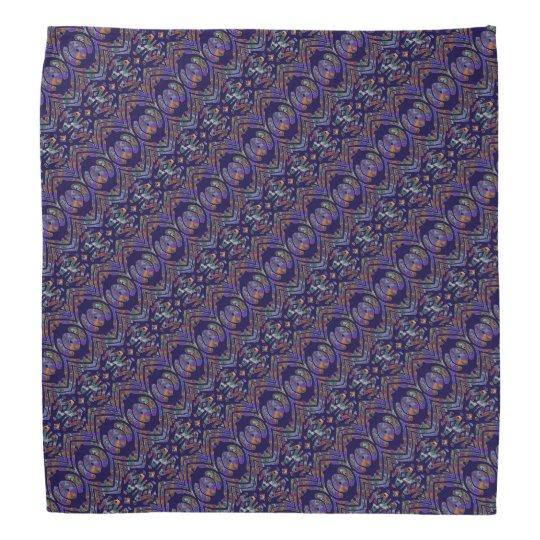 Purple Patterned Bandana
