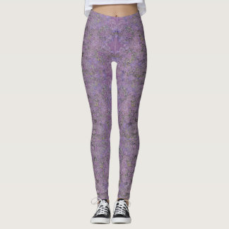 Purple Patterned Leggings