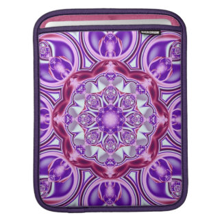 Purple Patterns Kaleidoscope iPad sleeve