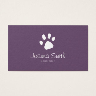 Purple Paw Dog Walking Pet Sitting Vet Appointment Business Card
