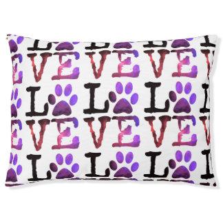 Purple Paw Love Dog Bed
