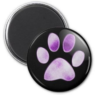Purple Paw Magnet