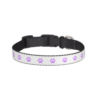 Purple Paw Print Dog Collar