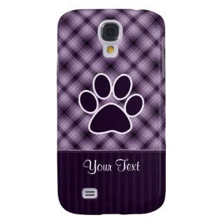Purple Paw Print Galaxy S4 Case