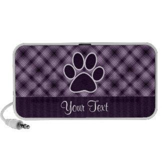 Purple Paw Print iPod Speaker