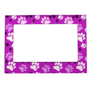 Purple Paw Print Magnetic Frame