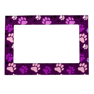 Purple Paw Print Magnetic Picture Frame