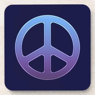 Purple Peace Sign Beverage Coaster