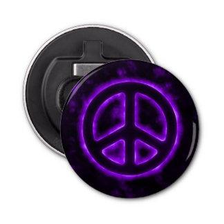 Purple Peace Sign Bottle Opener