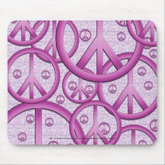 Purple Peace Sign Mousepad