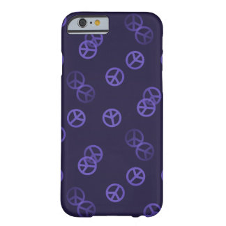 Purple Peace Sign Pattern Barely There iPhone 6 Case