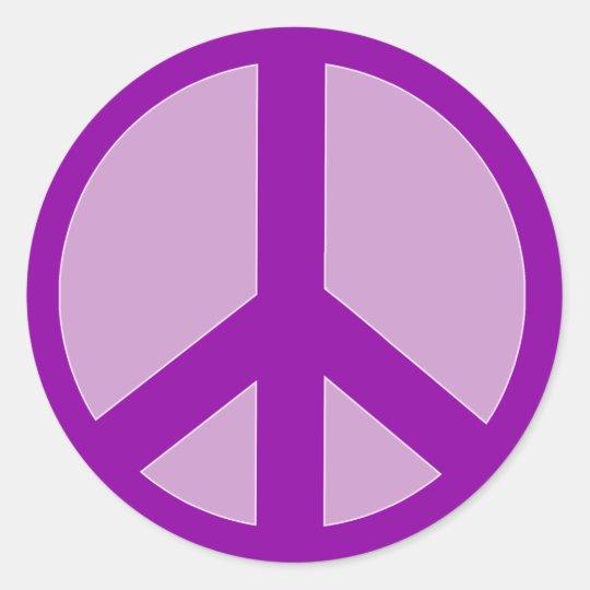 Purple Peace Sign T shirts, Hoodies, Mugs Round Sticker