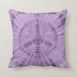 Purple Peace Sign Tie Dye American MoJo Pillow Throw Cushions
