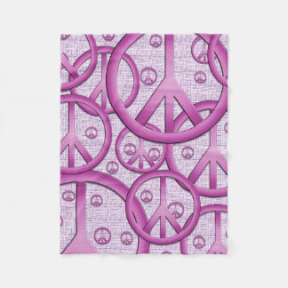 Purple Peace Signs Blanket