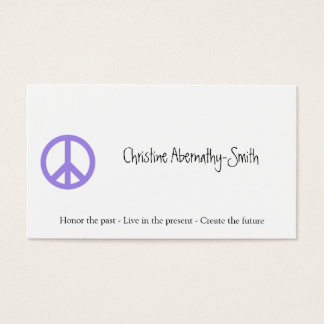 Purple Peace Symbol Business Card