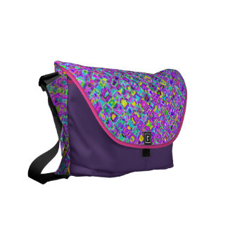Purple Peacock Courier Bags
