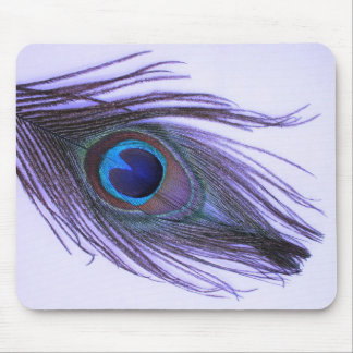 Purple Peacock Feather 2 Mouse Mat
