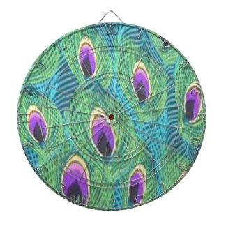 Purple Peacock Feathers Dartboard