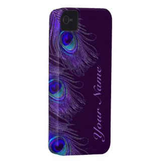 purple peacock iphone 4 case