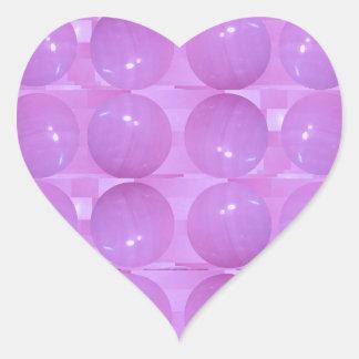 Purple Pearl Bubbles -  Based on Lynx Stone Balls Heart Sticker