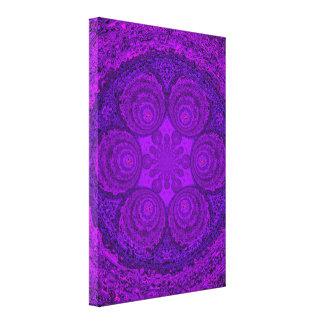 Purple Pearl Mandala C1 SDL Stretched Canvas Print