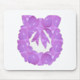 PURPLE Pearl - Wreath Design based Pattern Mouse Pad