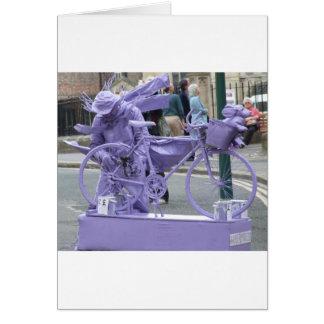 Purple Pedaller Card
