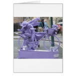 Purple Pedaller Greeting Card