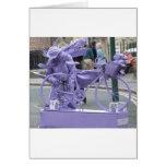 Purple Pedaller Greeting Card