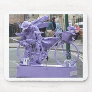 Purple Pedaller Mouse Pad