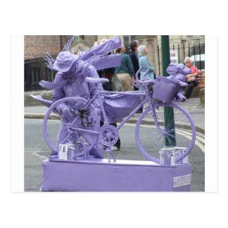 Purple Pedaller Postcard