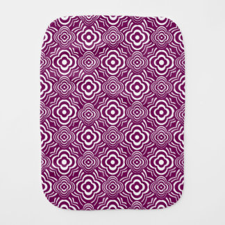 Purple Peddler Burp Cloth