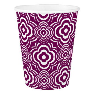 Purple Peddler Paper Cup