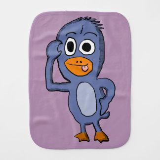 Purple Penguin Burp Cloth