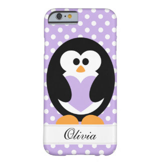 Purple Penguin Love Barely There iPhone 6 Case