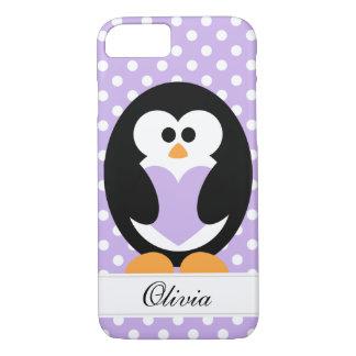 Purple Penguin Love iPhone 8/7 Case