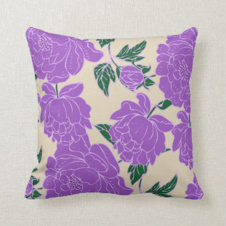Purple Peonies Cushion
