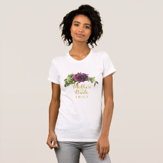 Purple Peony Swag Mother of the Bride Name ID456 T-Shirt