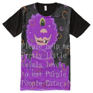 Purple People Eater. All-Over Print T-Shirt