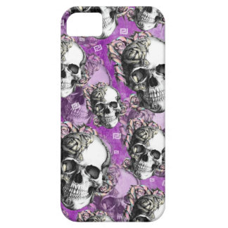 Purple people eater. Skull and roses I phone case. iPhone 5 Case