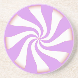 Purple Peppermint Candy Coaster