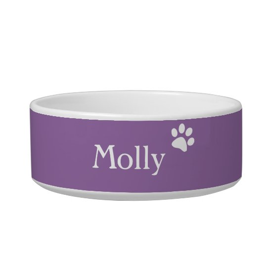 Purple  | Personalised Cat Dish