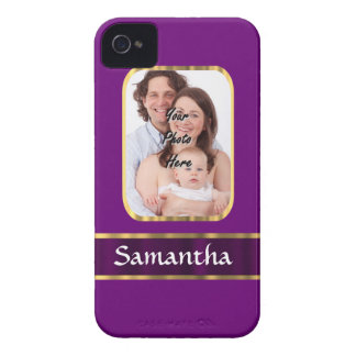 Purple personalized photo iPhone 4 cases