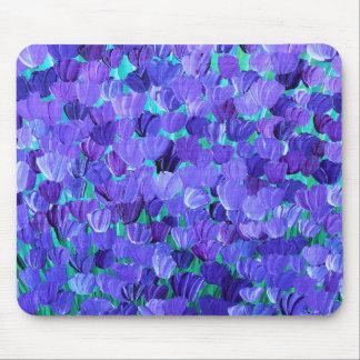 Purple Petals Mouse Mat
